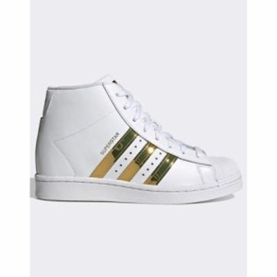 アディダス adidas Originals レディース スニーカー シューズ・靴 Superstar Up trainers in white ホワイト