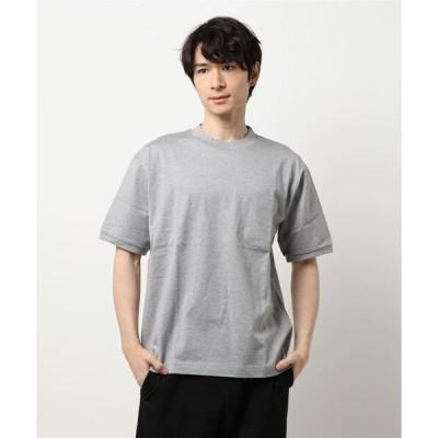 tシャツ Tシャツ martiniqueGENT'S/ハイゲージコンポレッション天竺 ハーフモックネックTシャツ