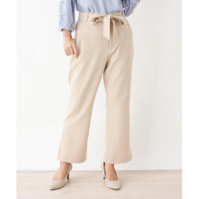 SHOO・LA・RUE/DRESKIP(シューラルー/ドレスキップ) ベルト付き裾スリットストレートパンツ