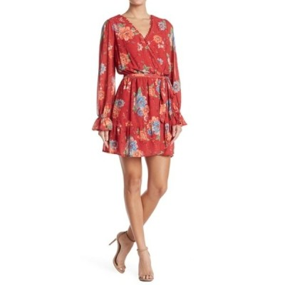 フライングトマト レディース ワンピース トップス Floral Print Mini Dress RUST