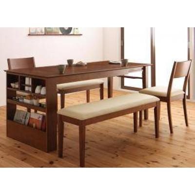 ダイニングテーブルセット 6人用 椅子 ベンチ おしゃれ 伸縮式 伸長式 安い 北欧 食卓 5点 ( 机+チェア2+長椅子2 ) 幅135-170 デザイナー