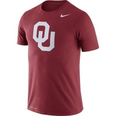 ナイキ メンズ Tシャツ トップス Nike Men's Oklahoma Sooners Crimson Logo Dry Legend T-Shirt