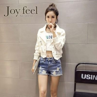 デニムジャケットGジャンジージャンショート丈ホワイトコンパクトレディース韓国白