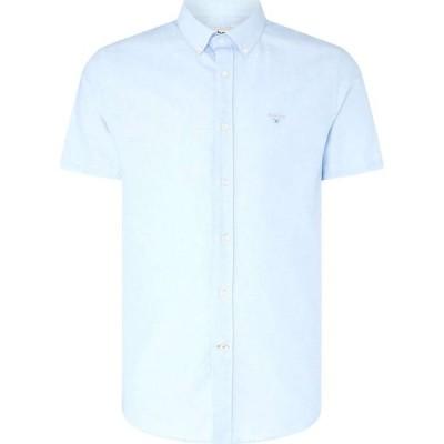 バブアー Barbour メンズ 半袖シャツ ワイシャツ トップス Oxford 3 Short Sleeve Tailored Shirt Sky BL