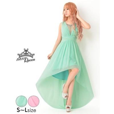 キャバ ドレス キャバドレス ワンピース ナイトドレス 大きいサイズ 胸元ビジュー付きワンカラーインナー ミニドレス S M L サイズ ピンク