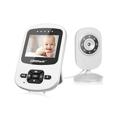 """(新品) Campark Video Baby Monitor with Camera and Audio Infant Digital Cam Optics with Infrared Night Vision 2.4"""" LCD 2.4GHz Wireless"""