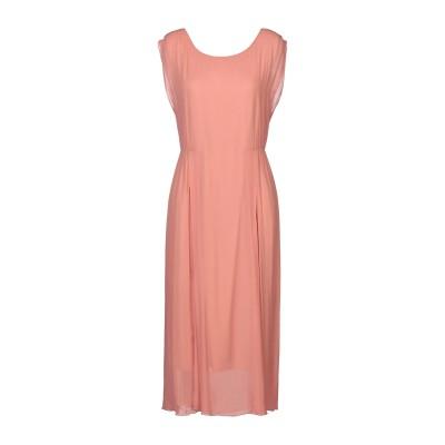 POMANDÈRE 7分丈ワンピース・ドレス サーモンピンク 38 レーヨン 100% 7分丈ワンピース・ドレス