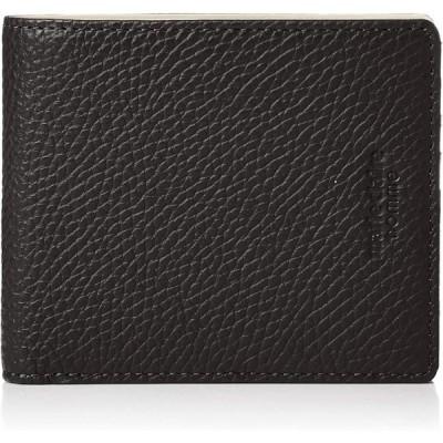 [マリクレール オム] 財布 メンズ 小銭入れ なし イタリアレザー バイカラー ブラック