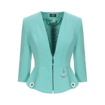 ELISABETTA FRANCHI テーラードジャケット ライトグリーン 42 ポリエステル 68% / レーヨン 29% / ポリウレタン 3%