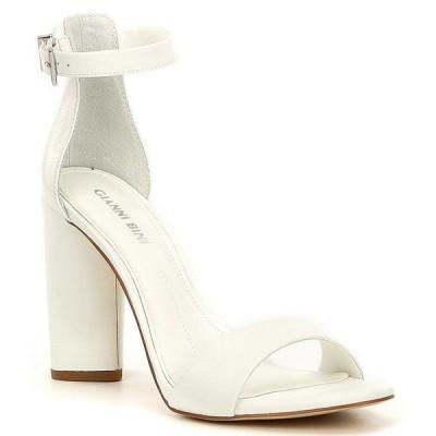ジアーニビニ レディース サンダル シューズ Joenah Two Piece Ankle Strap Block Heel Dress Sandals White