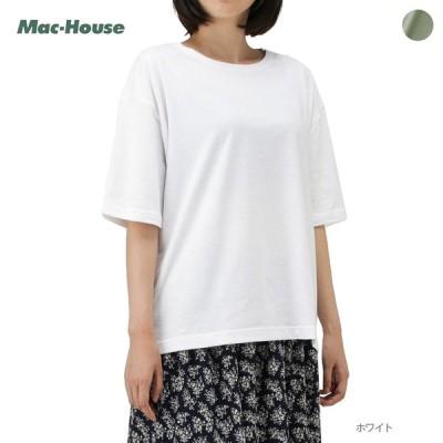 Tシャツ 半袖 半袖Tシャツ クルーネック レディース ゆったり ロゴ プリント