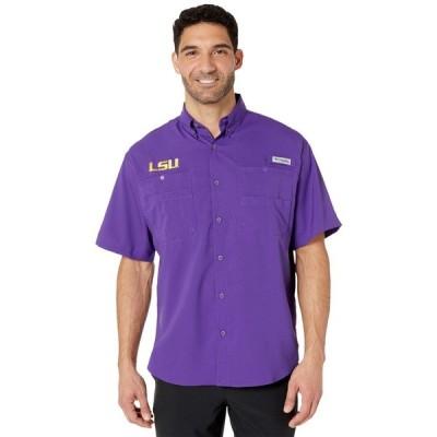 コロンビア Columbia College メンズ 半袖シャツ トップス LSU Tigers Collegiate Tamiami(TM) II Short Sleeve Shirt Vivid Purple