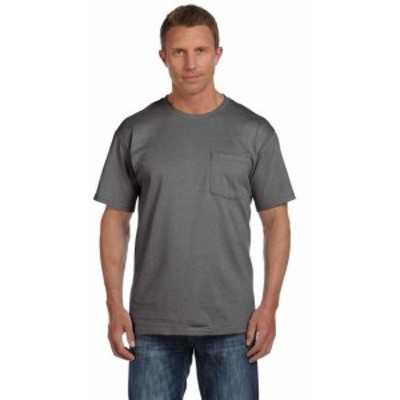 Pocket  ファッション トップス Fruit of the Loom Mens Heavy Cotton HD Pocket T-Shirt 3931P (2 PACK) All Sizes