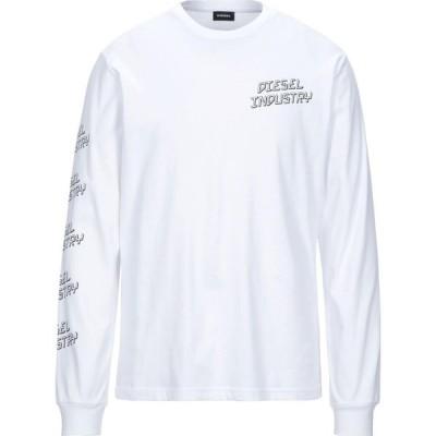 ディーゼル DIESEL メンズ Tシャツ トップス T-Shirt White