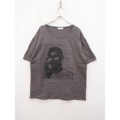 Darich(ダーリッチ)グラフィックTシャツ 五分袖 グレー レディース Aランク F [委託倉庫から出荷]