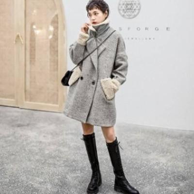 コート チェスターコート ジャケット ツイード ボア もこもこ ムートン ショート丈 20代 30代 40代 秋冬 普段着 デイリー デート