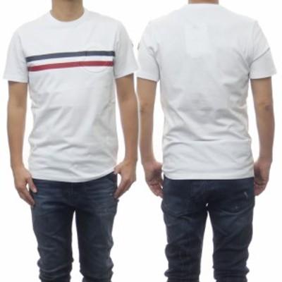 【6%OFF!】MONCLER モンクレール メンズクルーネックTシャツ 8C7B8-10-8390T ホワイト /2021春夏新作