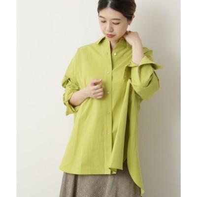 ミューカ mjuka 東炊き80ブロードBigシャツ (グリーン)