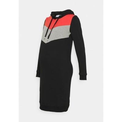 ママリシャス ワンピース レディース トップス MLNEWESTER DRESS - Day dress - black/grey/chili