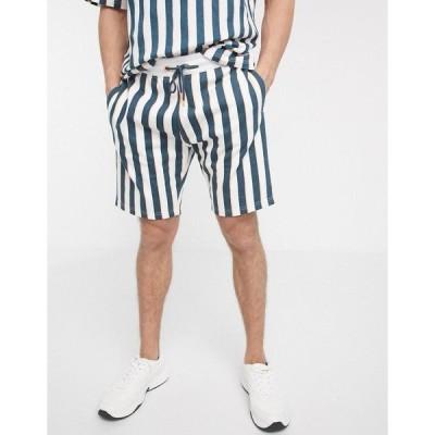スレッドベア メンズ カジュアルパンツ ボトムス Threadbare organic striped shorts Neon multi