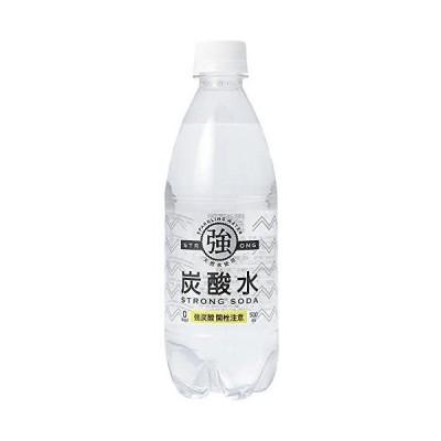 友桝飲料 強炭酸水 プレーン 天然水使用 STRONG SODA 500ml×24本 (500ml)