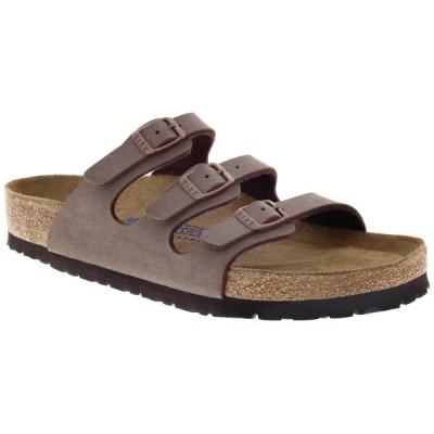 ビルケンシュトック レディース スニーカー シューズ Birkenstock Florida Birkibuc Soft Footbed Sandals - Women's Mocha