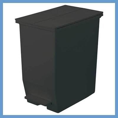 『小型』SOLOW抗菌・防汚ペダルダストボックス(オープンツイン/45L)/ブラック(RSD-78BK)
