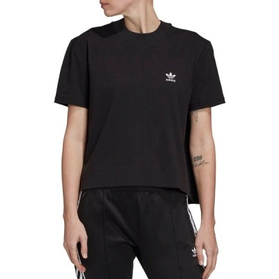 アディダス シャツ トップス レディース adidas Originals Women's Bellista Woven Back T-Shirt Black