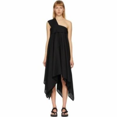 イッセイ ミヤケ Issey Miyake レディース ワンピース ワンショルダー ワンピース・ドレス black square petal one-shoulder dress Black