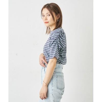 Omekashi / シャーリングパフTシャツ WOMEN トップス > Tシャツ/カットソー