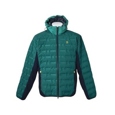 【マンシングウェア】 ARTECH SHELL(アーテックシェル)ダウンフードジャケット メンズ グリーン系 L Munsingwear
