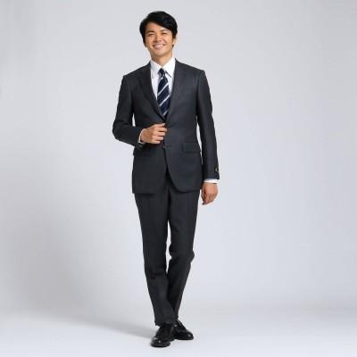 タケオ キクチ TAKEO KIKUCHI 【Sサイズ-】シャドーオルタネイトストライプスーツセットアップ Fabric by MIYUKI KEORI (チャコールグレー)
