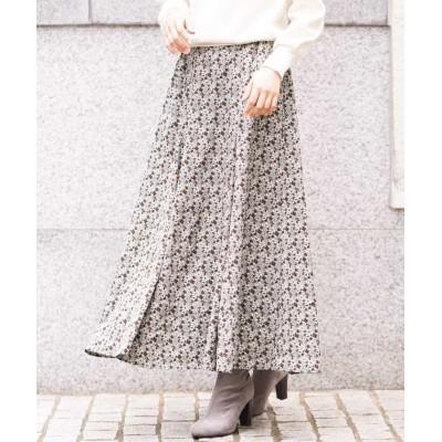 【アー・ヴェ・ヴェ】 ヴィンテージ小花フレアスカート レディース グリーン XS a.v.v