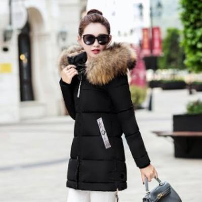 コート レディース 冬 30代 40代 大きいサイズ ダウンコート 中綿コート ミディアム丈 細身 着痩せ 防寒 暖かい 黒 コート アウター