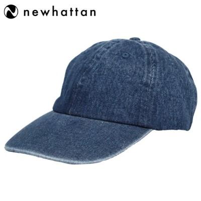 ニューハッタン ローキャップ メンズ 帽子 Newhattan 100% cotton denim baseball caps 6パネルキャップ デニム ジーンズ