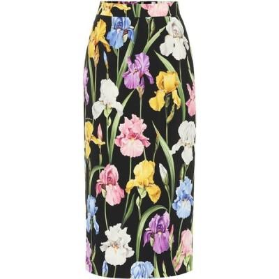 ドルチェ&ガッバーナ Dolce & Gabbana レディース ひざ丈スカート スカート floral-printed silk midi skirt Iris