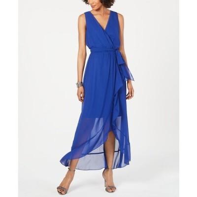 エス エル ファッションズ ワンピース トップス レディース Surplice High-Low Maxi Dress Royal Blue