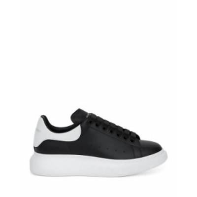 アレキサンダー・マックイーン メンズ スニーカー シューズ Men's Oversized Leather Heel Detail Sneakers Black/Bone