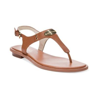 マイケル コース Michael Kors レディース サンダル・ミュール シューズ・靴 MK Plate Flat Thong Sandals Luggage