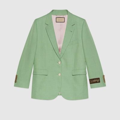 ヴィスコースリネン シングルブレスト ジャケット
