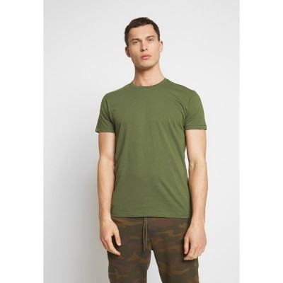 エスプリ Tシャツ メンズ トップス Basic T-shirt - khaki green