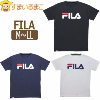 FILA 吸水速乾 半袖Tシャツ M L LL BKブラック NVネイビー WTホワイト 419-381 フィラ