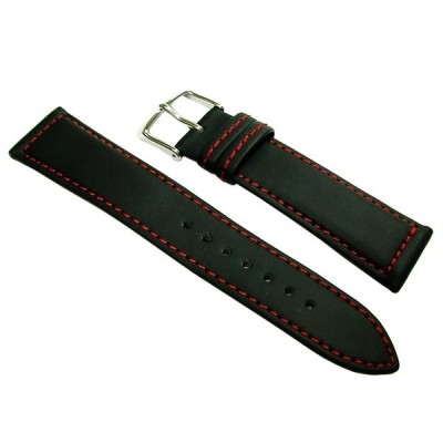 バンビ  BGA001R1 BAMBI  時計用 ベルト ラバー ステッチ入り レッドステッチ メンズ 18mm 20mm 正規品
