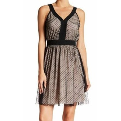 ファッション ドレス 19 Cooper NEW Beige Two Tone Stars Women Small S Mesh A-Line Dress