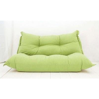 日本製 チップソファー クリアー W140×D75×H55 グリーン色 オックス