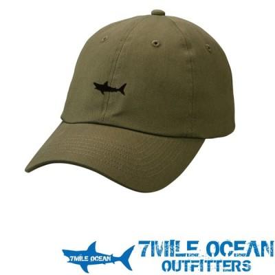 7MILE OCEAN メンズ キャップ 帽子 CAP ワンポイント ロゴ 刺繍 人気 ブランド アメカジ アウトドア ストリート ライトデニム オリーブ グリーン
