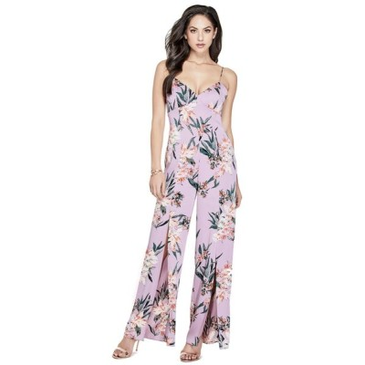 GUESS / LEIGH FLORAL JUMPSUIT WOMEN オールインワン・サロペット > つなぎ/オールインワン