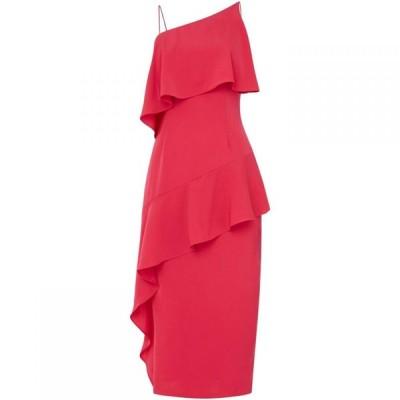 キープセイク Keepsake レディース パーティードレス ティアードドレス ワンピース・ドレス Strappy Tiered Frill Midi Dress Pink