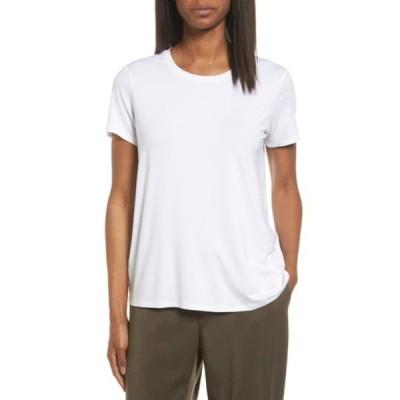 エイリーンフィッシャー Tシャツ トップス レディース Short Sleeve Jersey Tee White
