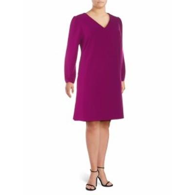 アレクシアアドモール レディース ワンピース Plus Bubble-Sleeve Shift Dress